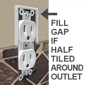 Fill Gap if Outlet Half Tiled Around
