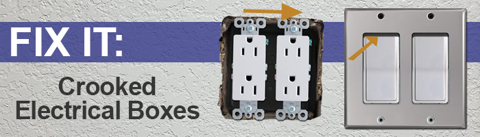 Fix Crooked Outlet or Switch Covers