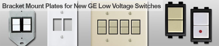 GE Bracket Mount Low Voltage Wall Plates