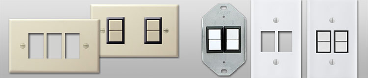 GE Low Voltage Wall Plates - New Style vs. Bracket Mount