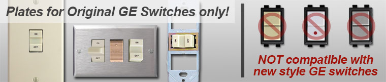 GE Old Style Low Voltage Light Switch Covers