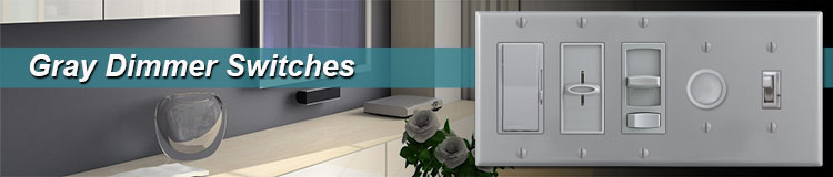 Gray Light Dimmers & Rotary Knobs