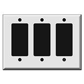 Half Short Triple Switch Plates