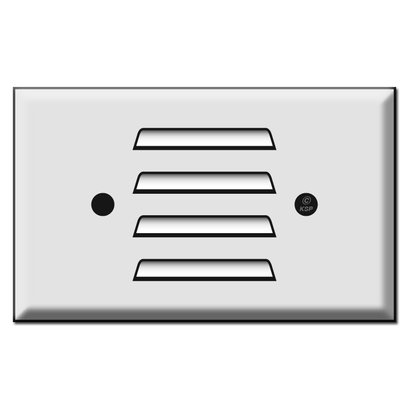 Horizontal Louver Switch Plate to Cover Light