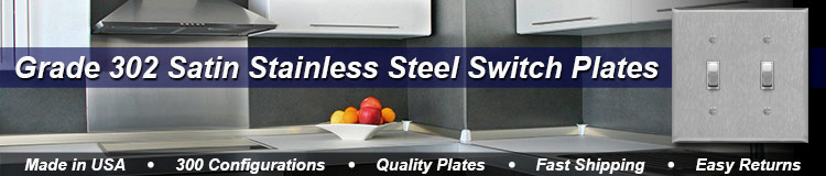 302 Stainless Steel Light Switch Covers in 70 Configurations