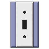 Light Switch Plates with Smaller Widths