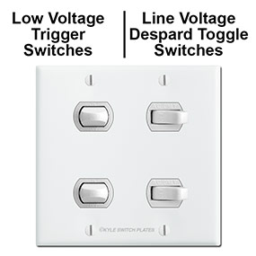 4 Combined Line & Low Voltage Lighting Switches