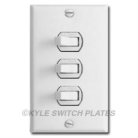 3 Stacked Light Switches in 1-Gang Cover