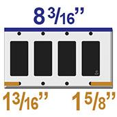 4 Device Trimed Edge Plates