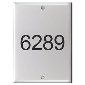 Address on Intercom Cover