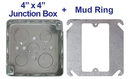 Adding a Device to a Square Junction Box