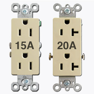 Electrical outlets receptacles gfci duplex round tr outlet amp ratings sciox Image collections