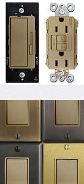 Antique Brass Switches & Fancy Cover Plates