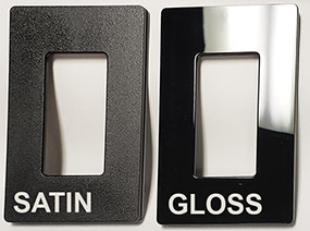 Lutron CW-1 Black Gloss vs Satin Wall Plates