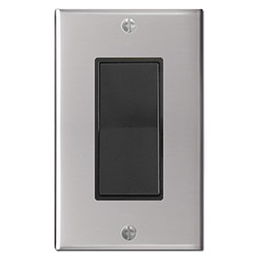 Black Polished Stainless Steel Switch & Plate