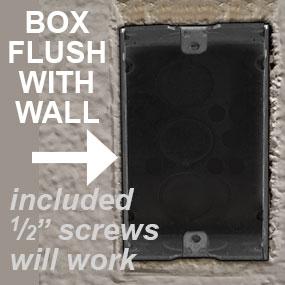 Wall Box Cover Screws Standard Half Inch