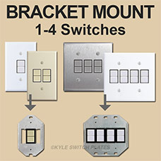 GE Bracket Plates for 1-4 Switches