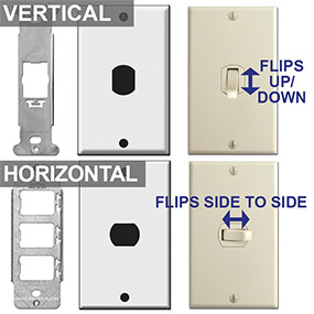 Brackets Hold Despard Light Switch Vertical or Horizontal