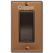 Copper Kitchen Switch Plates