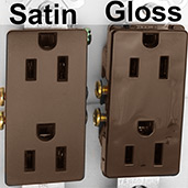 Brown Electrical Switches Gloss & Satin