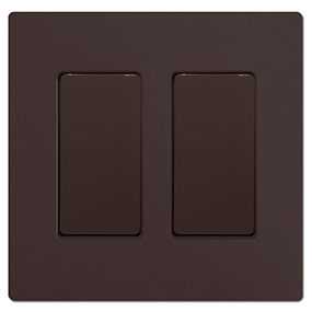 Brown Screwless Blank Wall Plate