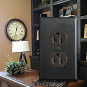 Brown Outlet & Bronze Cover