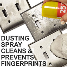 Clean Light Switch Covers with Dusting Spray