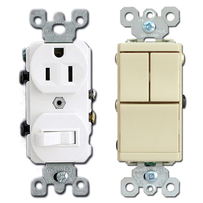 Stacked Combo Switches Save Room on Wall Plates