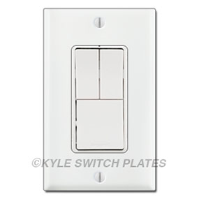 3-in-1 Rocker Combo Light Switches for Single Gang