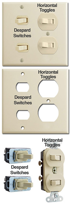 Despard Switches vs Horizontal Toggles - the Difference