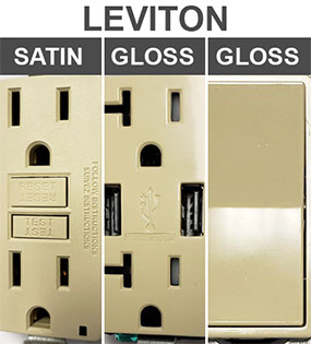 Compare Leviton Device Finishes