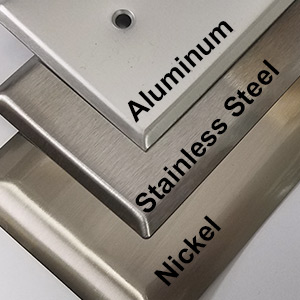 Compare Nickel and Stainless Steel Cover Plates