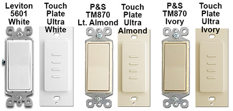 Touch Plate Ultra Light Switch Finishes