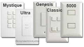 White Touch Plate Finishes Vary