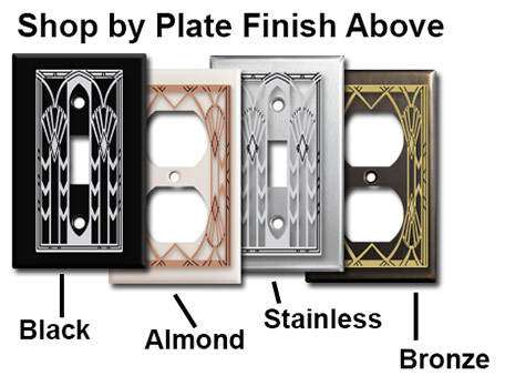 Art Deco Plates by Finish