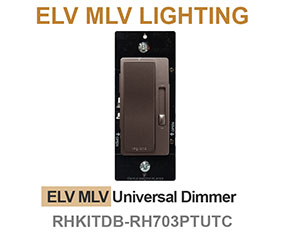 Dark Bronze Dimmers for ELV MLV Lighting