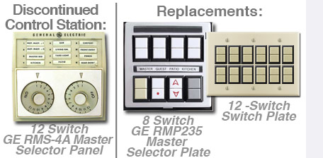 Discontinued GE Mastor Selector Panel Options