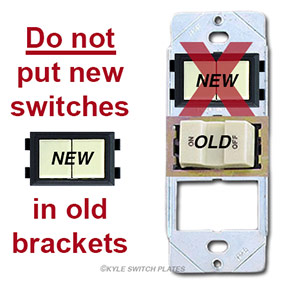 Don't Put New GE Switches in Old Brackets