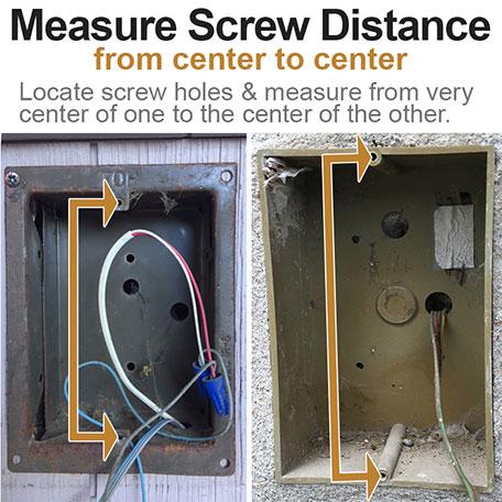 Measure Screw Distance for Doorbell Covers