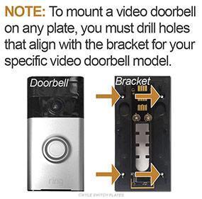 Holes Required to Mount Video Doorbells