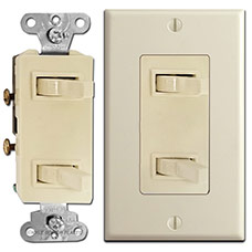 Dual Stacked Horizontal Toggle Light Switches