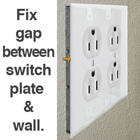 Fix Gap Between Outlet Cover & Wall Surface