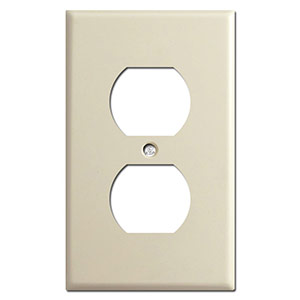 Duplex outlet cover plate description