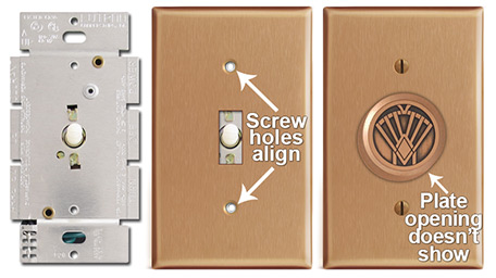 Dimmer Knob Wall Plates