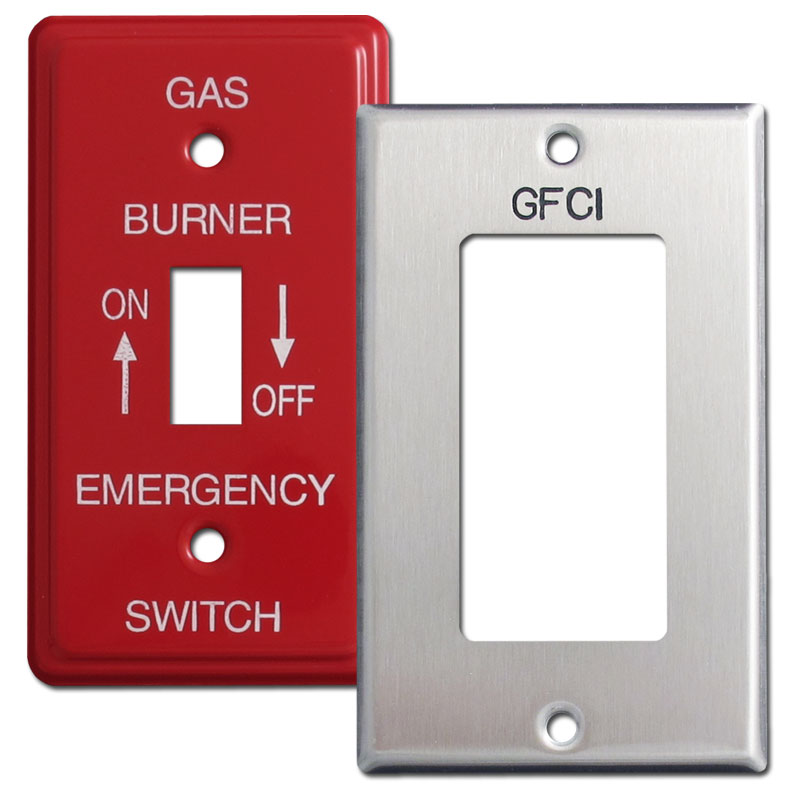 Buy engraved and emergency switch plates