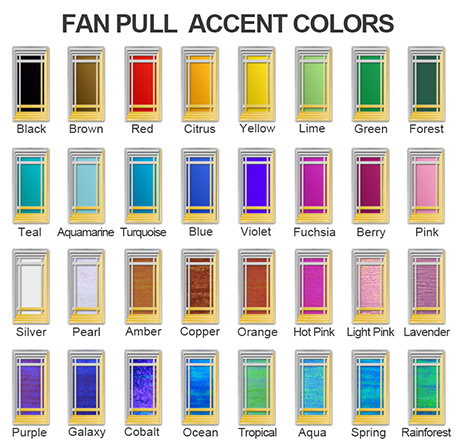 Embellished Ceiling Fan Pull Colors