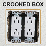 Fix Crooked Electrical Boxes