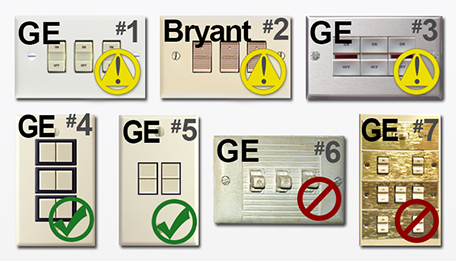 GE Low Voltage Light Switches
