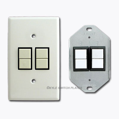 Diamond Shaped Metal Bracket for GE RS2 Series Low Volt Switches
