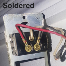 Soldered Low Voltage Wires